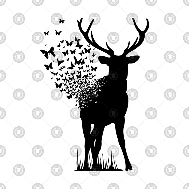 Big Buck Series: Buck Dissipating into Butterflies