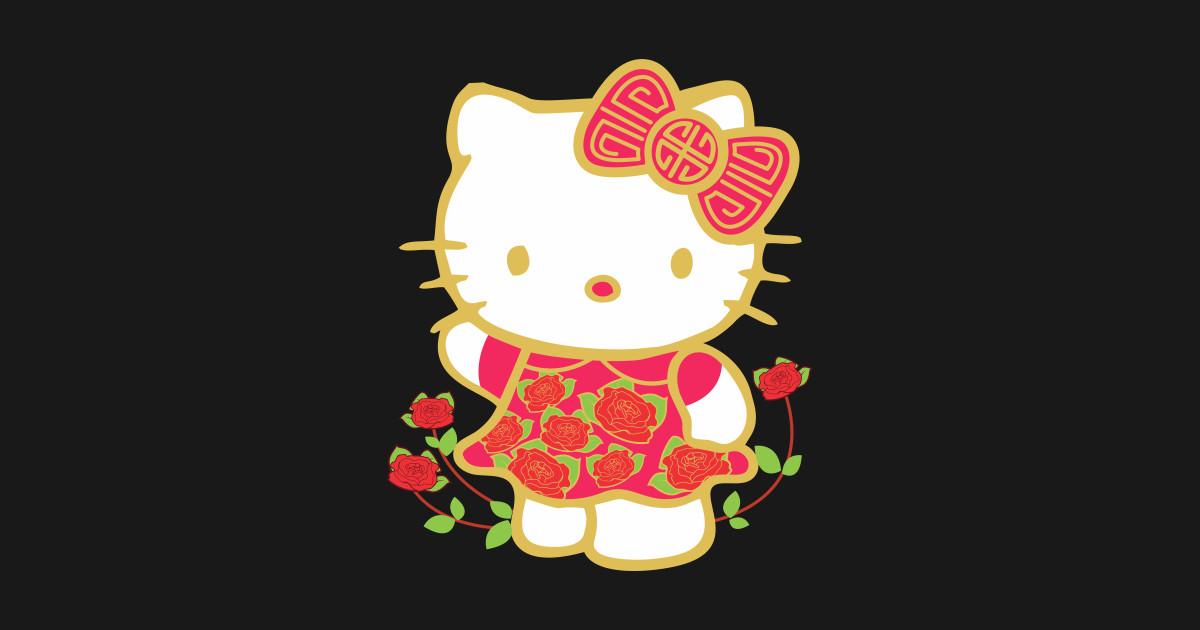 Cute Hello Kitty Happy Lunar New Year Shirt Birthday Gifts Kids T