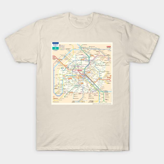 subway map t shirt Paris Subway Map Paris T Shirt Teepublic