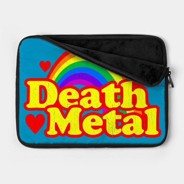Funny Death Metal Rainbow (vintage distressed look)