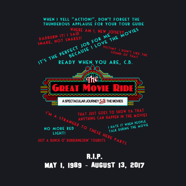 RIP Great Movie Ride Memorial Shirt