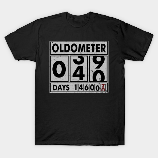 OLDOMETER 40 Years Old Made In 1978 40th Birthday T Shirt