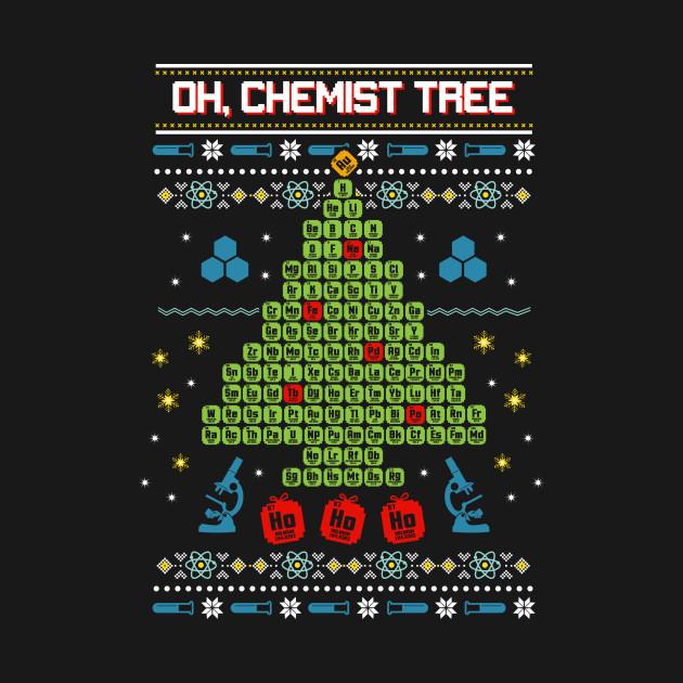 Oh, Chemist Tree Ugly Christmas Sweatshirt