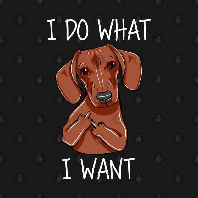 DACHSHUND I DO WHAT I WANT