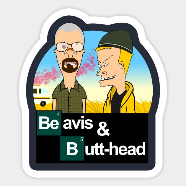 Beavis and Butthead Sticker Set  5 STICKERS