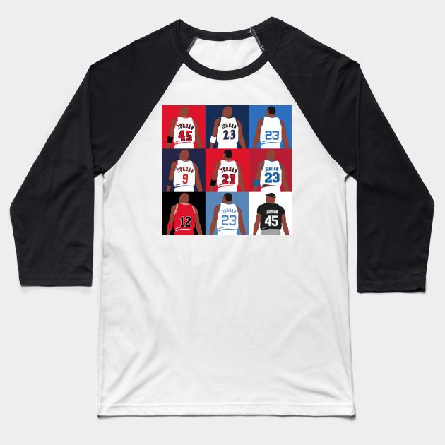 736477f348976d Michael Jordan Grid - Michael Jordan - Baseball T-Shirt