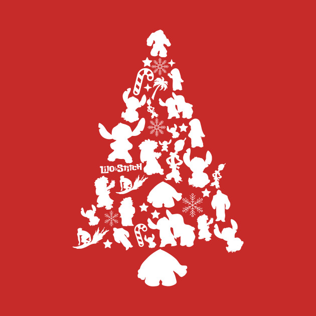 Lilo and Stitch Christmas Tree Silhouette