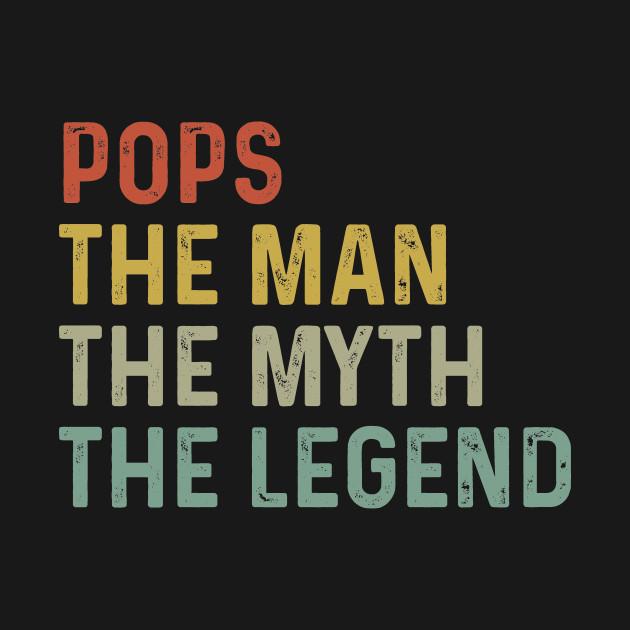 POPS Man Myth Legend Grandfather Father Dady Grandpa Gift