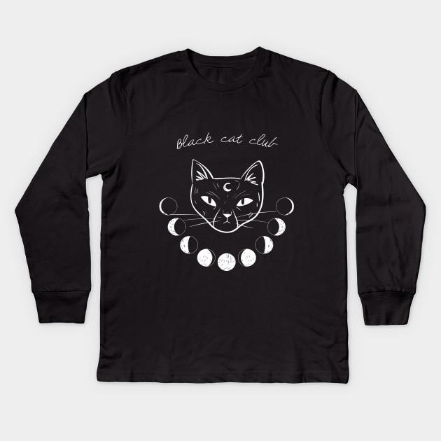 bfb8c9005 Black Cat Club - Black Cat - Kids Long Sleeve T-Shirt | TeePublic