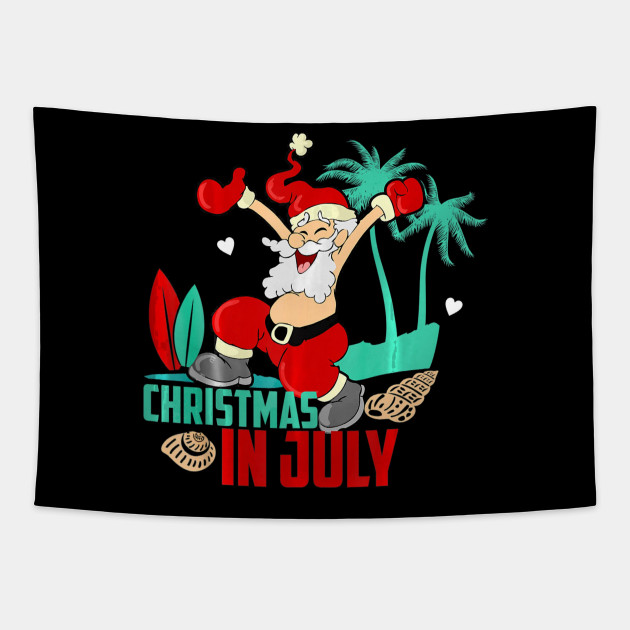 Christmas In July Swimsuit.Merry Christmas In July Naughty Santa Summer Vacation Beach