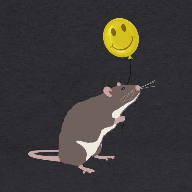 Rat with a Happy Face Balloon
