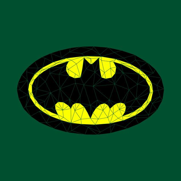 Geometric Batman Symbol Batman Crewneck Sweatshirt Teepublic