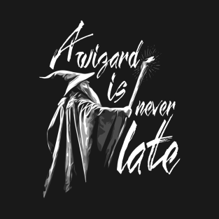 A Wizard is never late t-shirts
