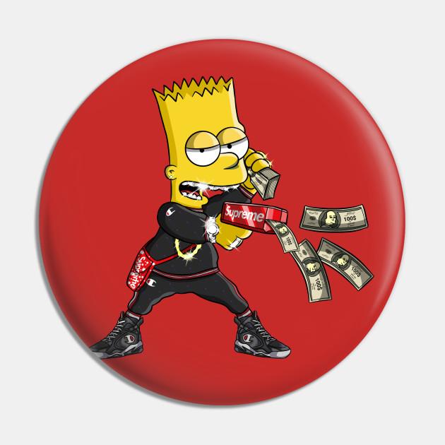 Dope Bart - Bart Simpson - Pin   TeePublic