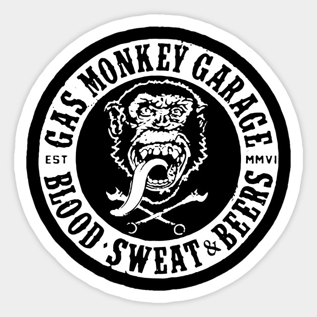 Gas Monkey Garage Decals: Official Gmg Gas Monkey Garage Blood Sweat And Beer T