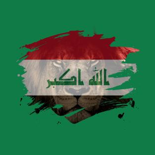 ec40ee418 Iraq Flag & African Lion Picture - Iraqi Pride Design T-Shirt. by OckShirts