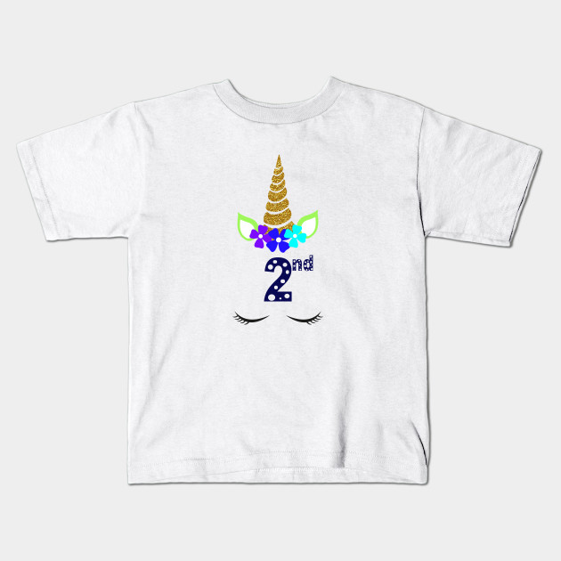 Unicorn Toddler Girl 2nd Birthday T Shirt Kids