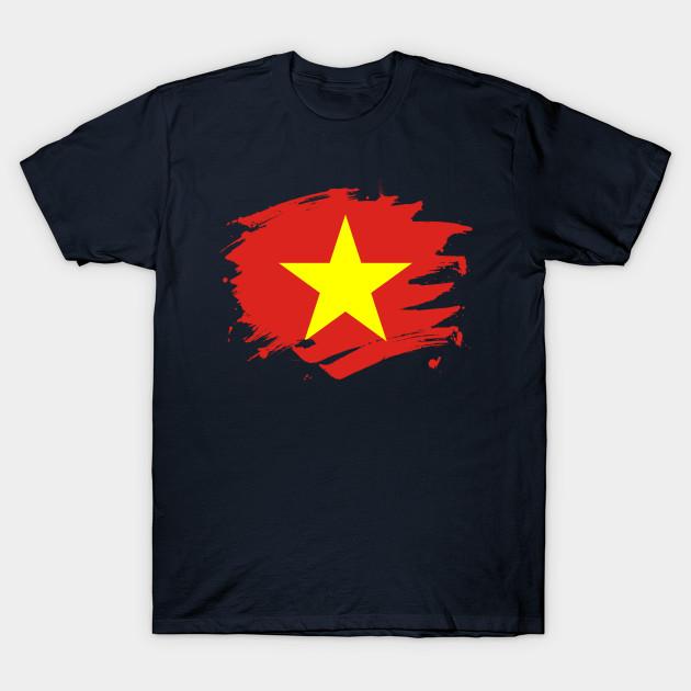 Vietnam Paint Splatter Flag Vietnamese Pride Design Vietnam T