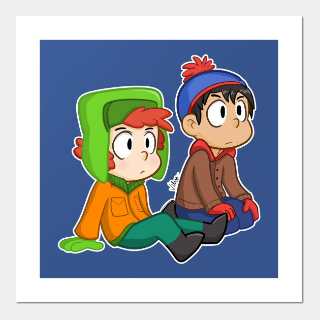 South Park Besties Kyle And Stan Southpark Affiche Et Impression D Art Teepublic Fr