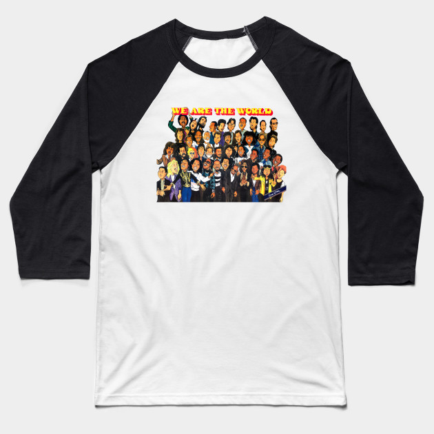 f82cd9f5 We Are The World (Cartoon) - We Are The World - Baseball T-Shirt ...