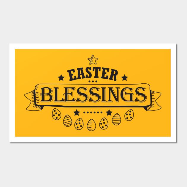 Easter Blessings Black Design Holiday Gift Cute Women Men - Easter ...