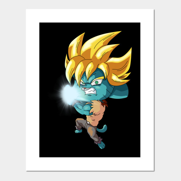 Gumball Super Saiyan Gumball Super Saiyan Posters And Art Prints