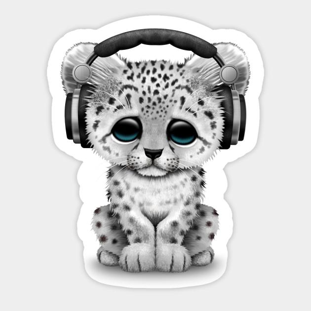 Print Snow Leopard Sticker