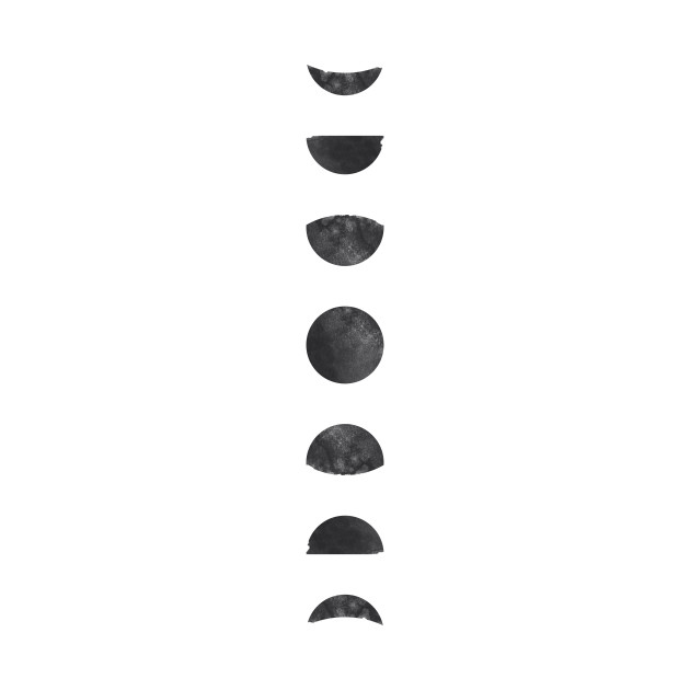 Moon Phases Watercolor Art