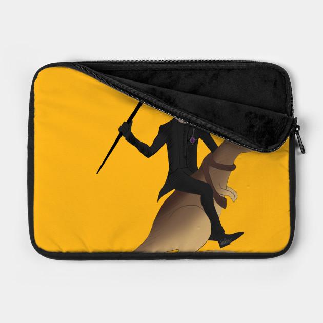 Cardi riding a kangaroo