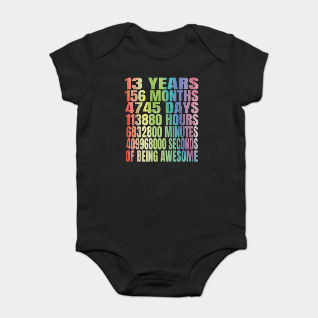 13th Birthday Girl T Shirt 13 Years Old Party Gift Onesie