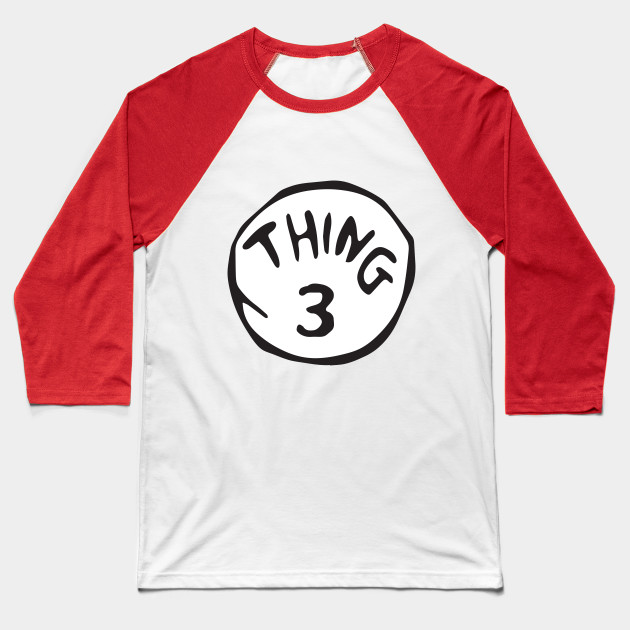 Dr Suess Cat in the Hat THING Three T Shirt Childrens Kids Size 3