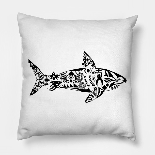 b4cd3b2e342f Tribal Predator - Shark - Pillow