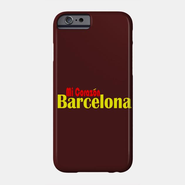 Barcelona Mi Corazon Barcelona Phone Case Teepublic