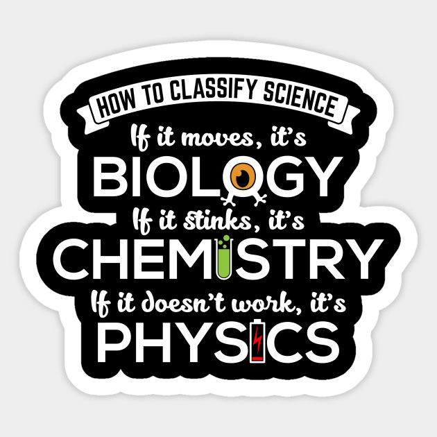 Classify Science Biology Chemistry Physics