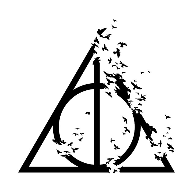 Harry potter deathly hallows with destructive birds for Deathly hallows elder wand