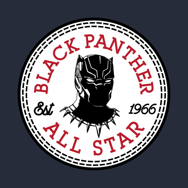 Black Panther All Star Converse Logo