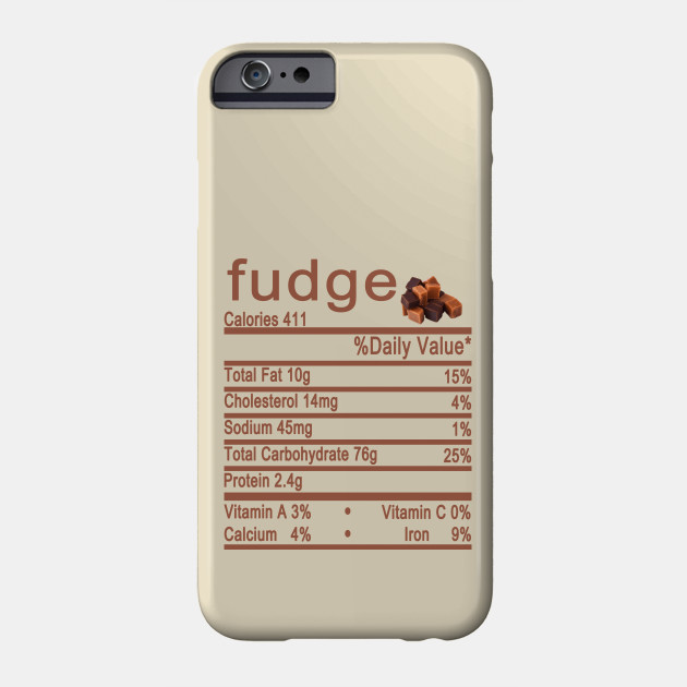 fudge nutrition thanksgiving Phone Case