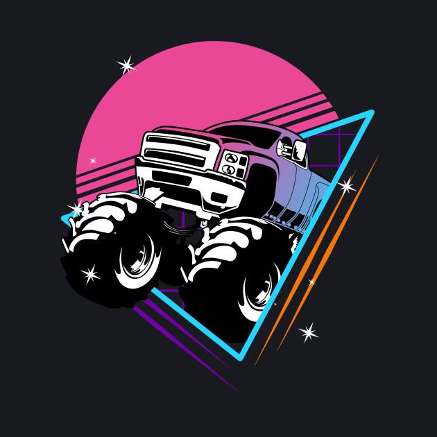 Retro Monster Trucks Gift | Vintage Big Trucks