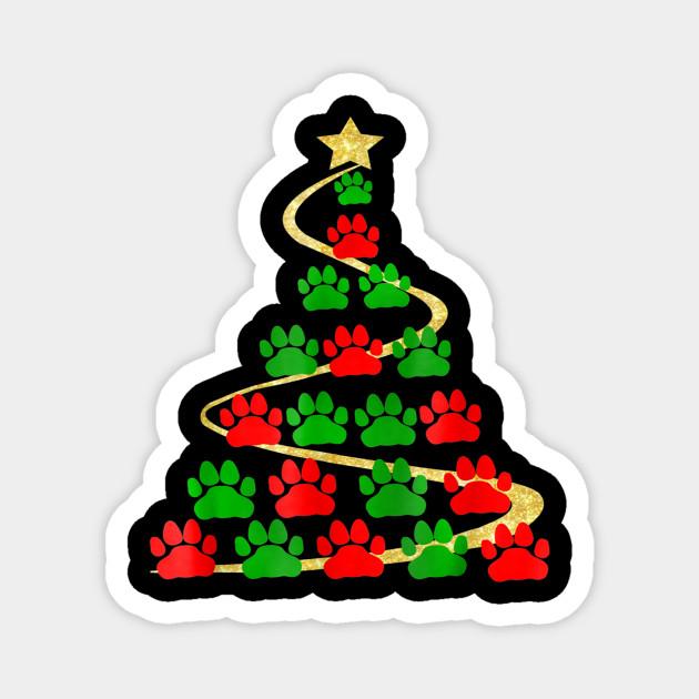 Christmas Tree Paw Prints Tshirt Christmas Tree Paw Prints Aimant Teepublic Fr Pink paw print png blue paw png white dog paw png paw patrol png paw print png cat paw png. teepublic