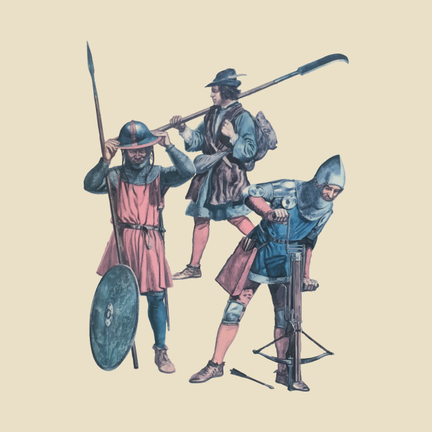 Medieval Soldiers Crossbow, Pike and Glaive Middle Ages War