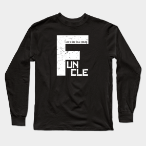 52e5ff738 Best Funcle Distressed - Like A Dad Only Cooler Long Sleeve T-Shirt