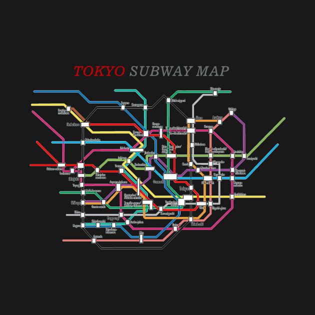 Subway Map Graphic Design.Tokyo Subway Map Metro Underground