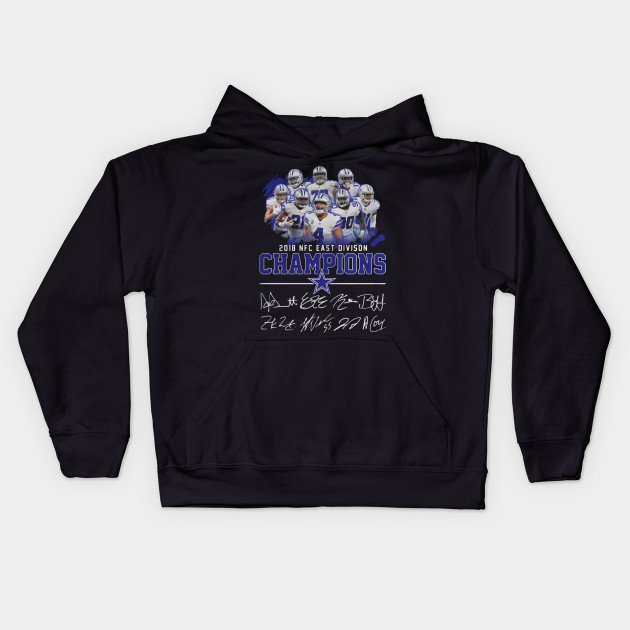 Dallas cowboys team 2018 NFC east division champions Kids Hoodie. New! 04336165c