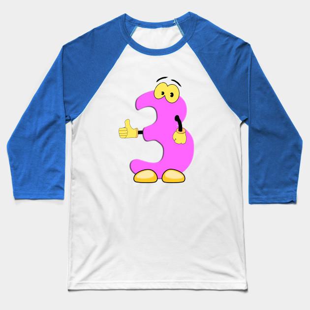 Number 3 Smiley Monogram Face Emoji Shirt For Men Women Kids