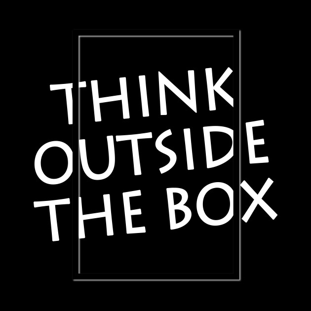 Think Outside The Box Writing Lettering Design