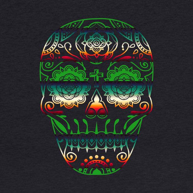 Day of the Dead Deco Skull 6