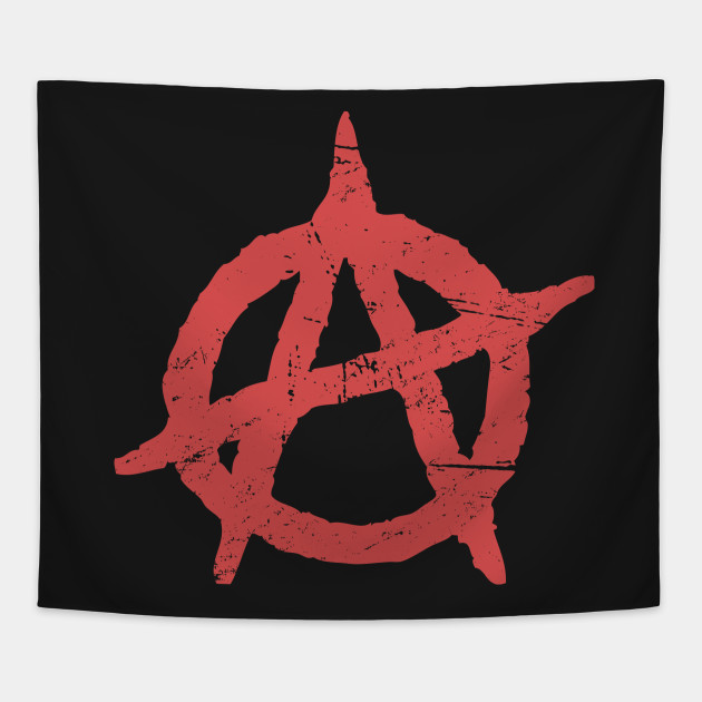 Distressed Punk Anarchy Symbol