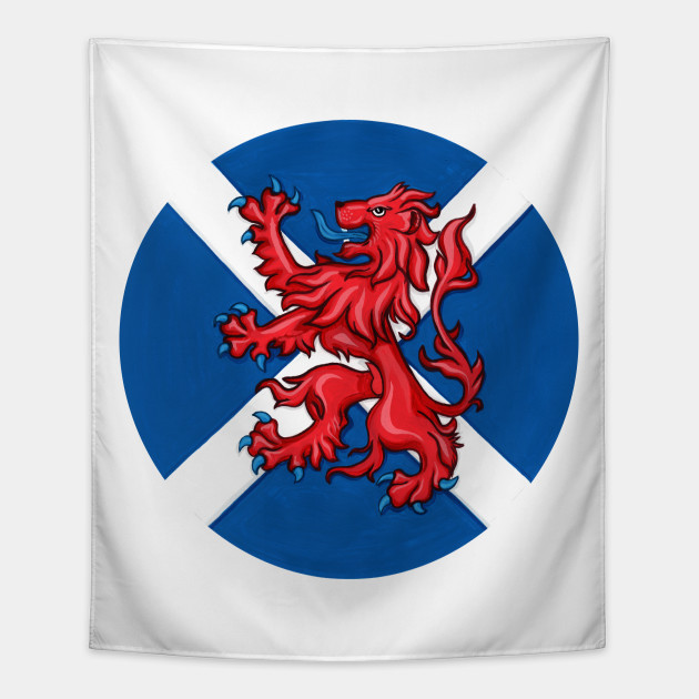 Scotland Forever Symbols Of Scotland Tapestry Teepublic