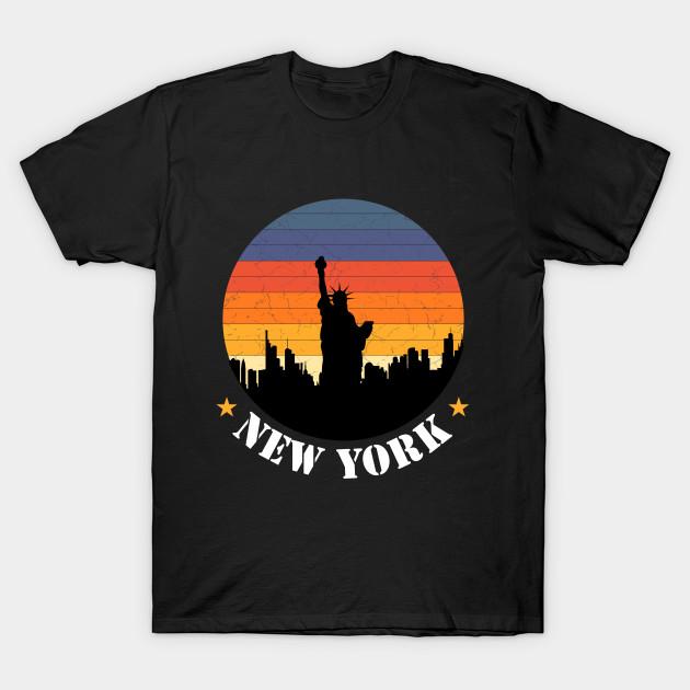 New York City Skyline Shirt Vintage Retro 70s NYC Graphic T