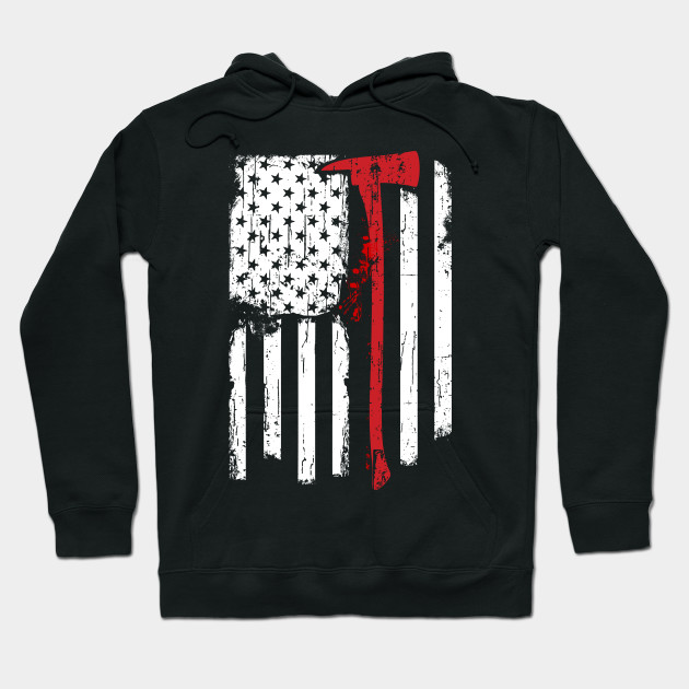1187e905 Firefighter Red Line American Flag With Fireman Axe - Red Line Flag ...